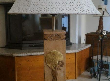 La mia lampada '3' in stile Liberty